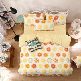 Уценка (дефекты)! Комплект постельного белья Citrus (двуспальный-евро) (код товара: 45403): купить в Berni