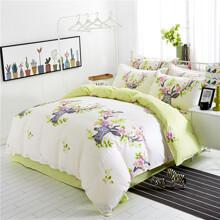 Уценка (дефекты)! Комплект постельного белья Цветочный олень (двуспальный-евро) (код товара: 45400)