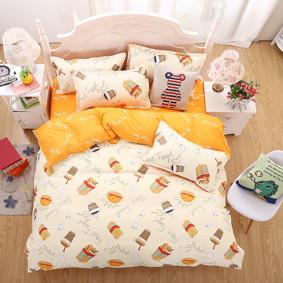 Уценка (дефекты)! Комплект постельного белья Фаст-фуд (полуторный) (код товара: 45404): купить в Berni