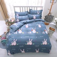 Уценка (дефекты)! Комплект постельного белья Прекрасные кролики (полуторный) (код товара: 45406)