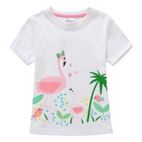 Футболка для девочки Розовый фламинго (код товара: 45525): купить в Berni