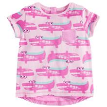 Футболка для девочки Розовый крокодил оптом (код товара: 45526)