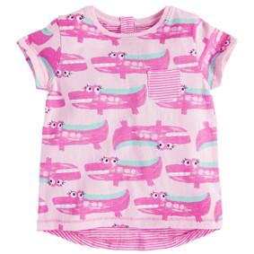 Футболка для девочки Розовый крокодил (код товара: 45526): купить в Berni