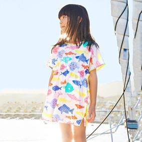 Платье для девочки Цветные рыбки (код товара: 45515): купить в Berni