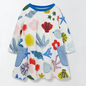 Платье для девочки Море (код товара: 45502): купить в Berni