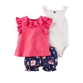 Комплект для девочки 3 в 1 Цветы оптом (код товара: 45783): купить в Berni