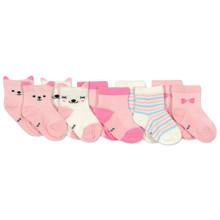 Дитячі антиковзні шкарпетки Кішечка (5 пар) оптом (код товара: 45804)