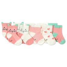 Дитячі антиковзні шкарпетки Кішечка (5 пар) оптом (код товара: 45806)