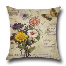 Подушка декоративна Букет для коханої 45 х 45 см оптом (код товара: 45854)