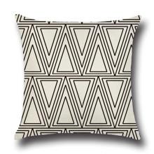 Подушка декоративна Трикутники 45 х 45 см оптом (код товара: 45845)