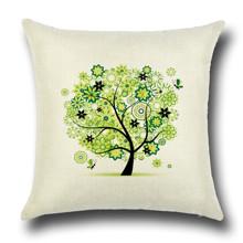 Подушка декоративна Зелене дерево 45 х 45 см оптом (код товара: 45841)
