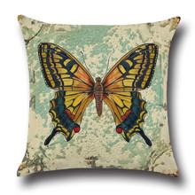 Подушка декоративна Жовтий метелик 45 х 45 см оптом (код товара: 45839)