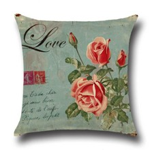 Подушка декоративная Цветок любви 45 х 45 см оптом (код товара: 45851)