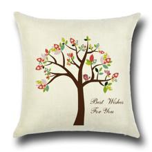 Подушка декоративная Цветущее дерево 45 х 45 см (код товара: 45843)