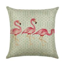 Подушка декоративная Фламинго 45 х 45 см оптом (код товара: 45895)