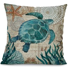 Подушка декоративная Морская черепаха 45 х 45 см оптом (код товара: 45836)