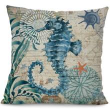 Подушка декоративная Морской конек 45 х 45 см (код товара: 45837)