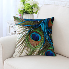 Подушка декоративная Перо павлина 45 х 45 см (код товара: 45883)