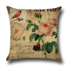 Подушка декоративная Роза Остин 45 х 45 см (код товара: 45853)