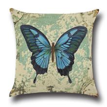 Подушка декоративная Синяя бабочка 45 х 45 см оптом (код товара: 45838)