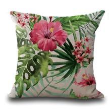 Подушка декоративная Тропический цветок 45 х 45 см оптом (код товара: 45828)