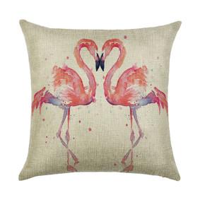 Подушка декоративная Влюбленные фламинго 45 х 45 см (код товара: 45899): купить в Berni
