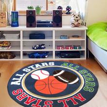 Килимок для дитячої кімнати Гра з м'ячем 100 х 100 см оптом (код товара: 45981)