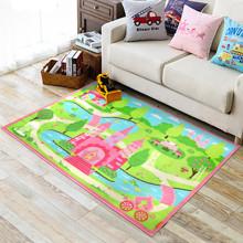 Килимок для дитячої кімнати Замок принцеси 100 х 130 см (код товара: 45983)