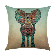 Подушка декоративна Індійський слон 45 х 45 см оптом (код товара: 45903)