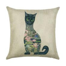 Подушка декоративна Кішка 45 х 45 см оптом (код товара: 45948)