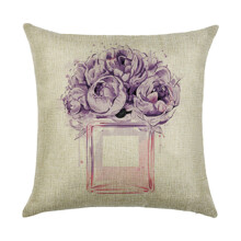 Подушка декоративна Пурпуровий букет 45 х 45 см оптом (код товара: 45921)