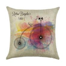 Подушка декоративна Ретро велосипед 45 х 45 см оптом (код товара: 45942)