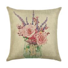 Подушка декоративна Рожевий букет 45 х 45 см оптом (код товара: 45922)