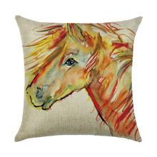 Подушка декоративна Рудий кінь 45 х 45 см оптом (код товара: 45905)