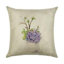 Подушка декоративная Фиолетовый цветок 45 х 45 см (код товара: 45923)