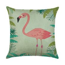 Подушка декоративная Фламинго в джунглях 45 х 45 см (код товара: 45959)