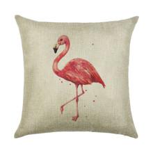 Подушка декоративная Одинокий фламинго 45 х 45 см оптом (код товара: 45963)
