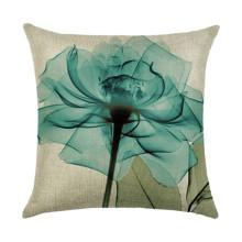 Подушка декоративная Прозрачный цветок 45 х 45 см оптом (код товара: 45911)