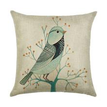 Подушка декоративная Птица на ветке 45 х 45 см (код товара: 45917)