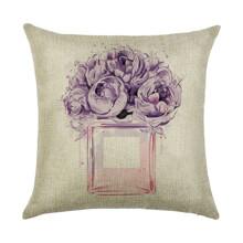 Подушка декоративная Пурпурный букет 45 х 45 см (код товара: 45921)