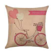 Подушка декоративная Розовый велосипед 45 х 45 см (код товара: 45939)