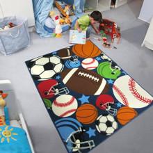 Уценка (дефекты)! Коврик для детской комнаты Мячи 100 х 130 см (код товара: 45985)