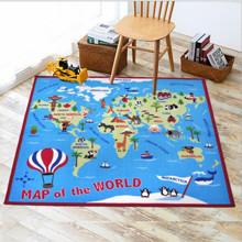 Уцінка (дефекти)! Килимок для дитячої кімнати Мапа світу 100 х 150 см (код товара: 45984)