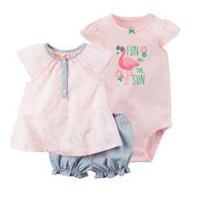 Комплект для девочки 3 в 1 Flamingo (код товара: 46072)