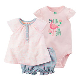 Комплект для девочки 3 в 1 Flamingo оптом (код товара: 46072): купить в Berni