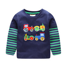 Лонгслів для хлопчика Трактор оптом (код товара: 46053)
