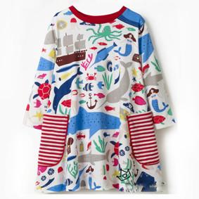 Платье для девочки Морские животные (код товара: 46090): купить в Berni
