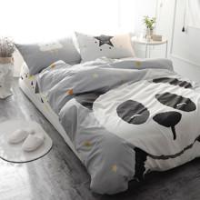 Уценка (дефекты)! Комплект постельного белья Большая панда (полуторный) (код товара: 46012)
