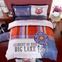 Уценка (дефекты)! Комплект постельного белья Большое озеро (полуторный) (код товара: 46045)