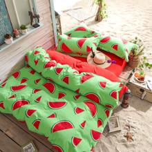 Уценка (дефекты)! Комплект постельного белья Сочный арбуз (двуспальный-евро) (код товара: 46033)